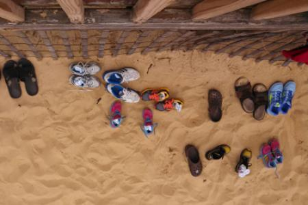 Shoes at the beach
